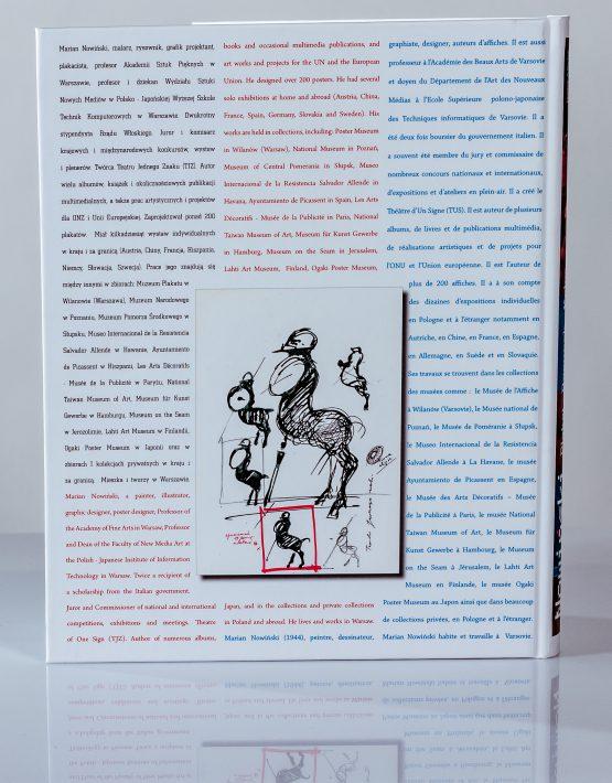 Książka Marian Nowiński - Plakat - rysunek - kolor - tył okładki