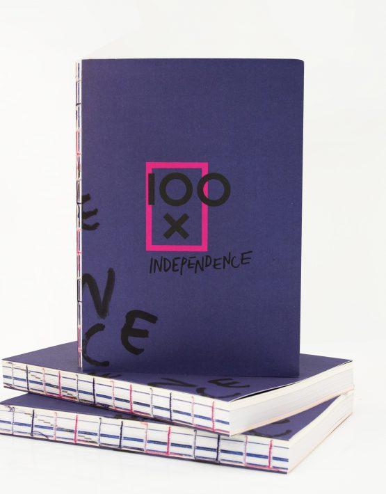 Okładka książki 100 x Independence